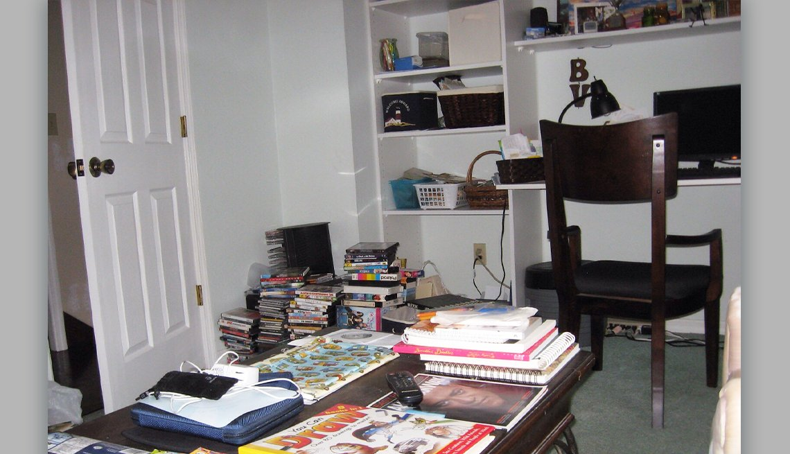 item 1 of Gallery image - before photo of a cluttered office