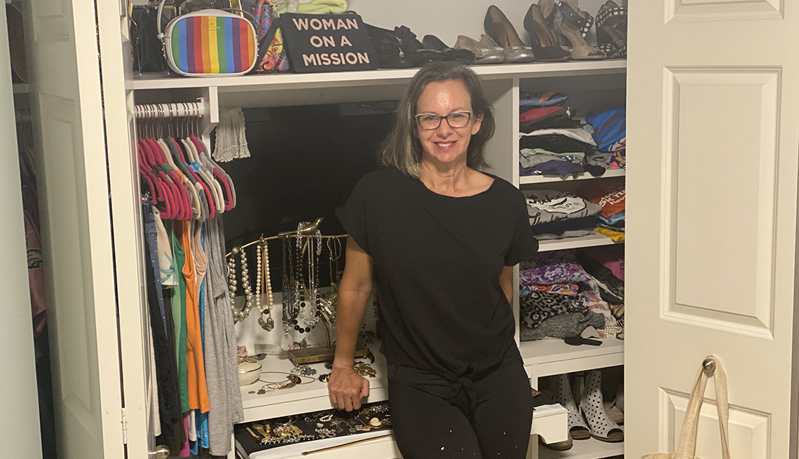 Kim Livengood learned to toss out unwanted items for a move to a smaller home.