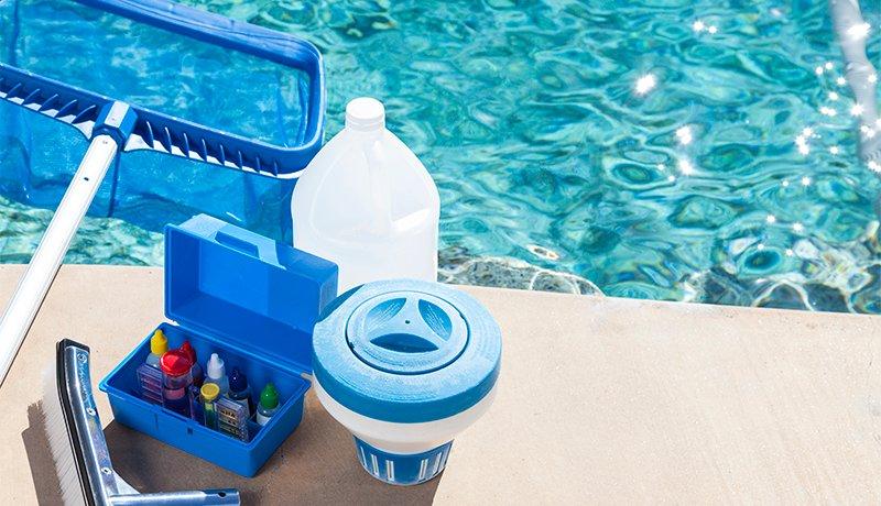 Equipo para medir la calidad del agua de la piscina