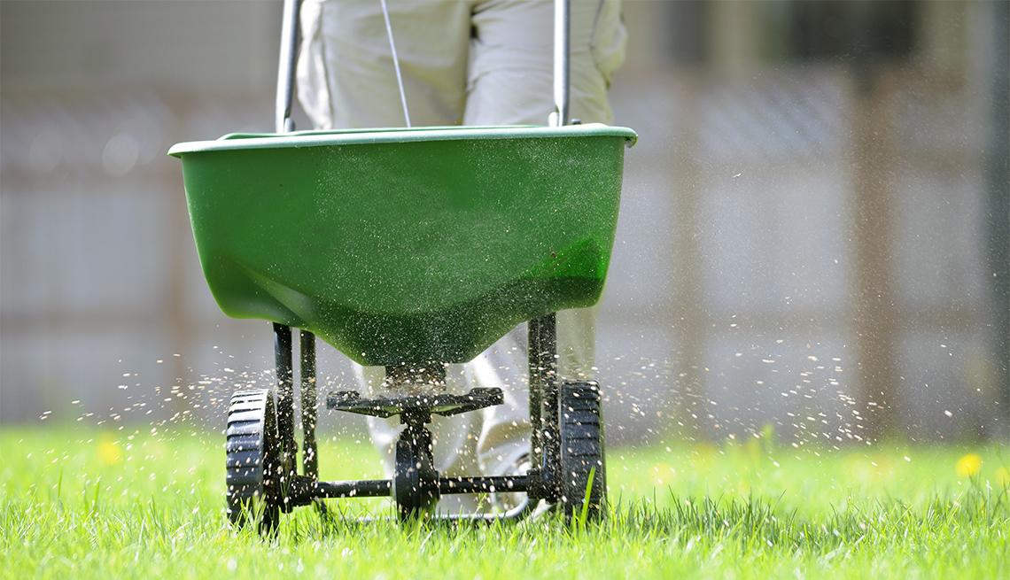 Spring lawn fertilizing