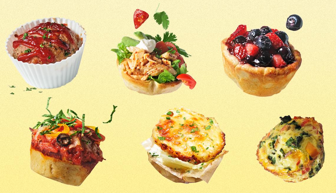 Recetas que se pueden preparar en un molde para muffins