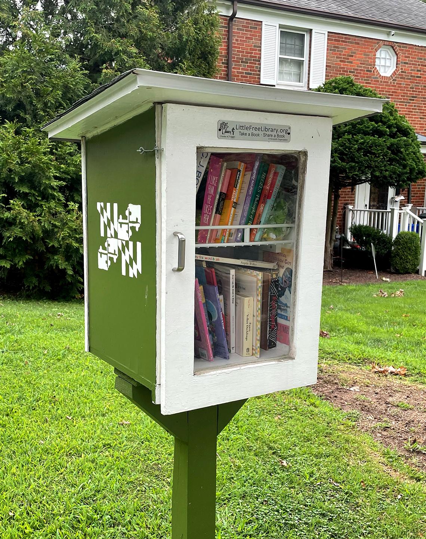 Casita de madera llena de libros