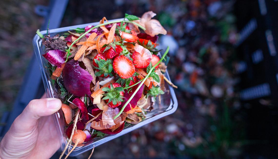 Composting a garden