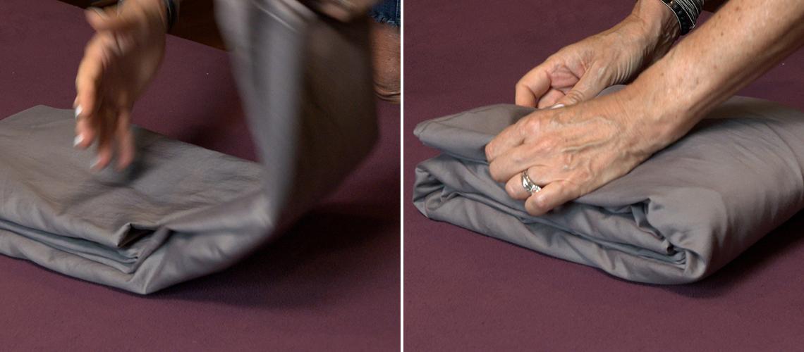 item 6 of Gallery image - Dobla el rectángulo hasta que tengas una forma perfectamente compacta
