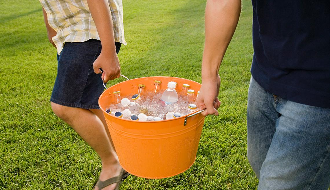Cubo de hielo y bebidas, 10 objetos para organizar la casa y el jardín
