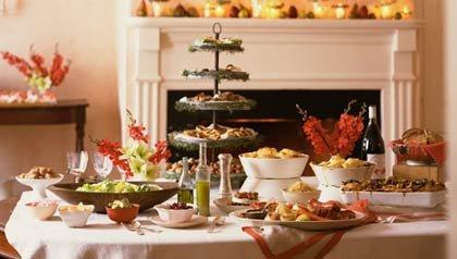 C mo organizar una cena buffet para las fiestas hogar y for Casa jardin buffet