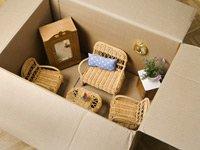 Poner una sala en una caja de cartón - Reducirse en tamaño