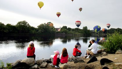 Lewiston, Maine is home to the Great Falls Balloon Festival each summer