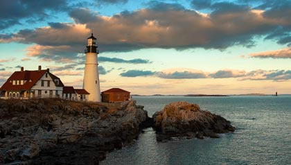 Porttland, Maine is a nature lovers resort for retirees