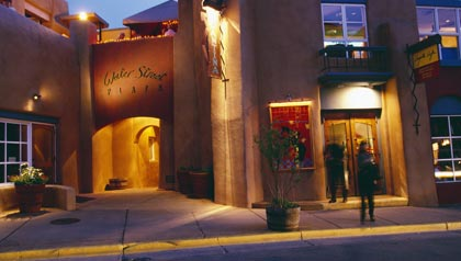 great sunny places to retire- santa-fe, new mexico street