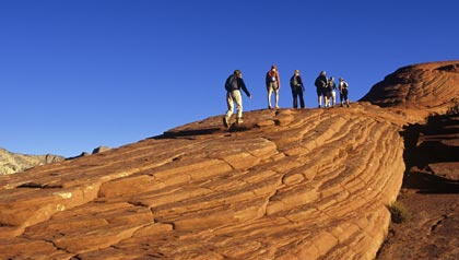 great sunny places to retire- hikers in st. george, utah