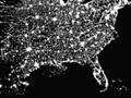 USA map shows population density in every state