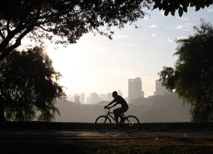 Ciclista paseando