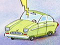 Cartoon of a car. Is smart car technology too much for older drivers?