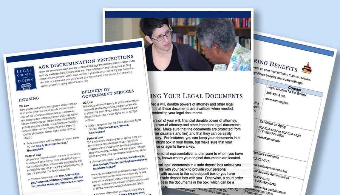 Recursos, documentos de Legal Counsel for the Elderly.