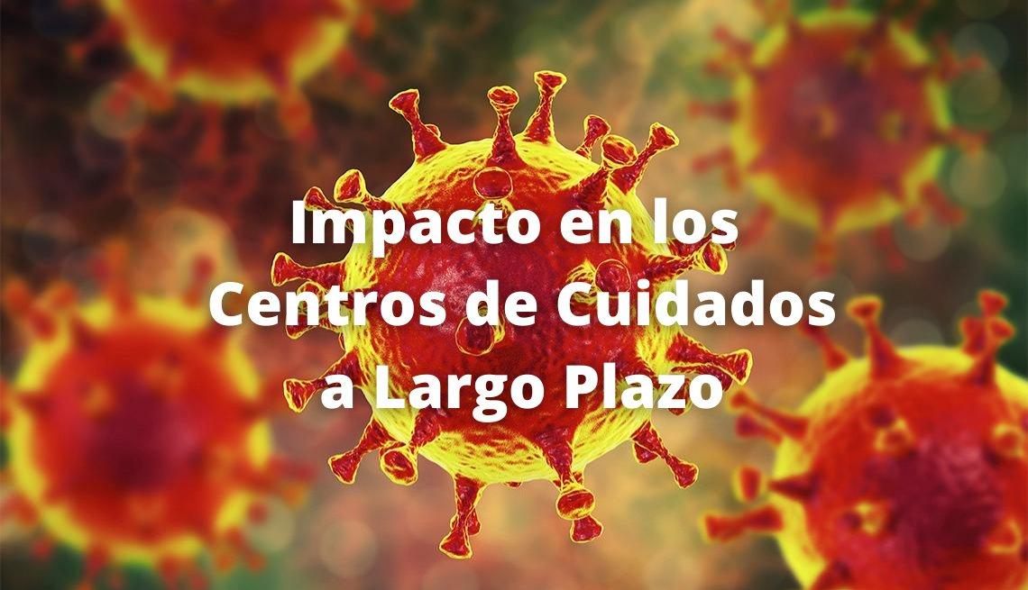 Imagen de la COVID-19 en donde se puede leer Impacto en los Centros de Cuidado a Largo Plazo