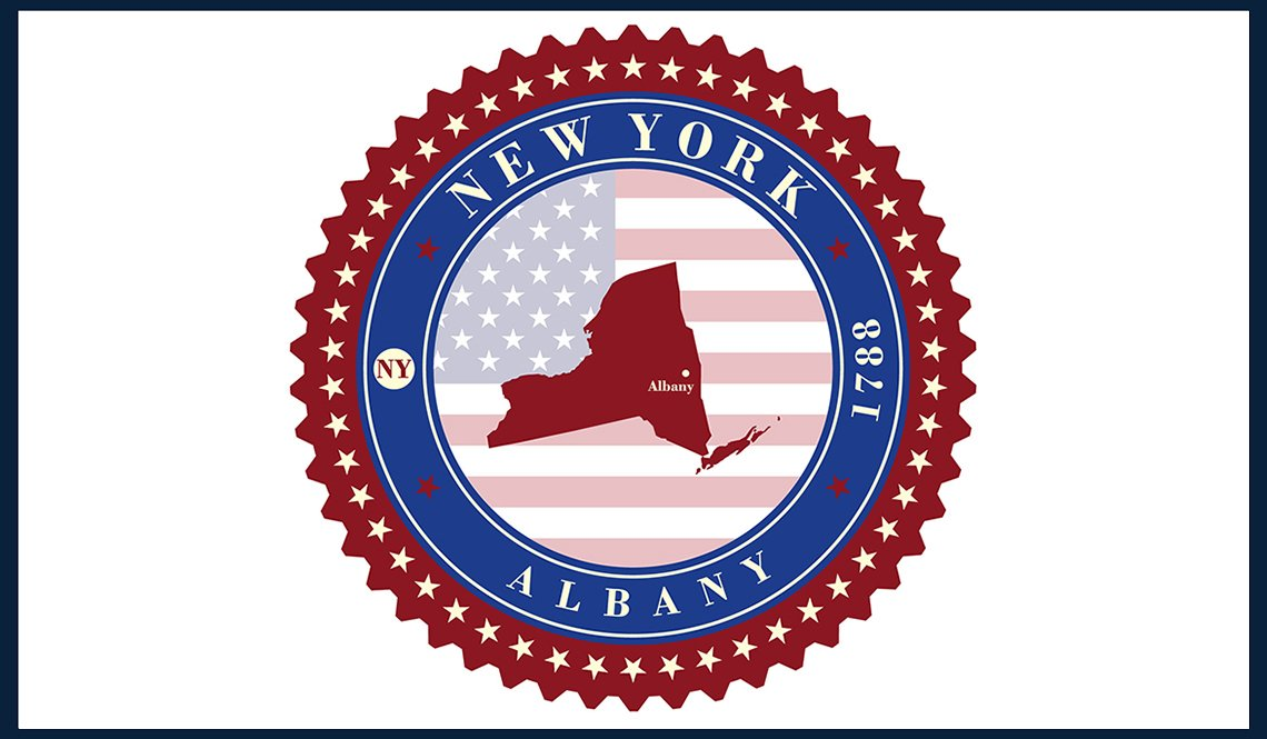 A New York state seal