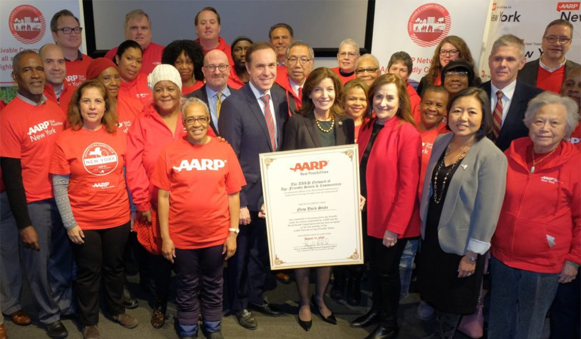 AARP New York and the Office of the New York State Governor celebrate New York joining the AARP Network of Age-Friendly Communities