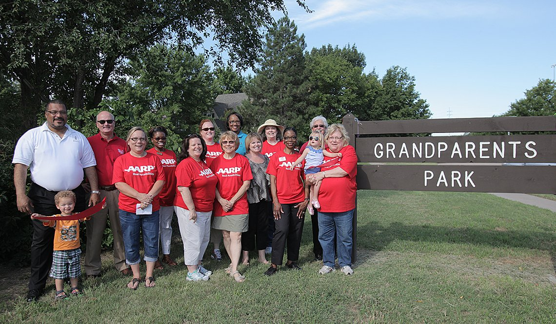 item 2, Gallery image. Grandparents Park, Wichita, Kansas | Photo by Jacque White for AARP
