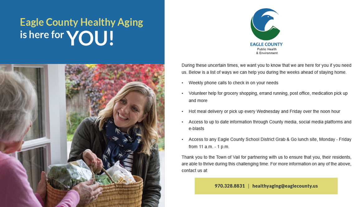 Eagle County Healthy Aging Postcard