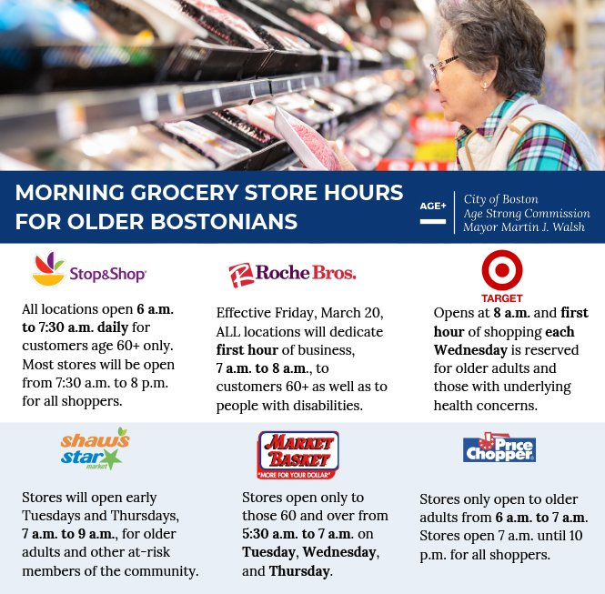 Morning Grocery Store Hours for Seniors