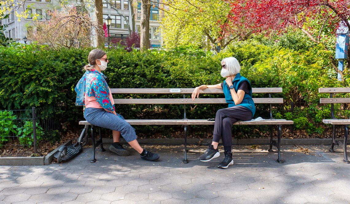 Social distancing in New York City