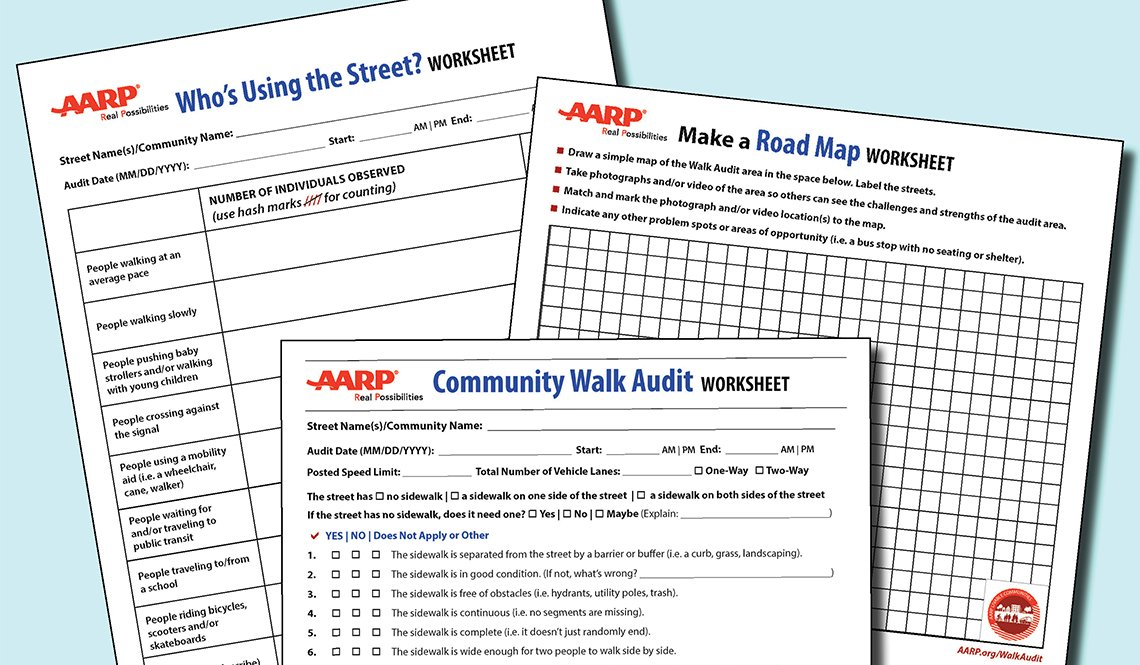 AARP Walk Audit Worksheets