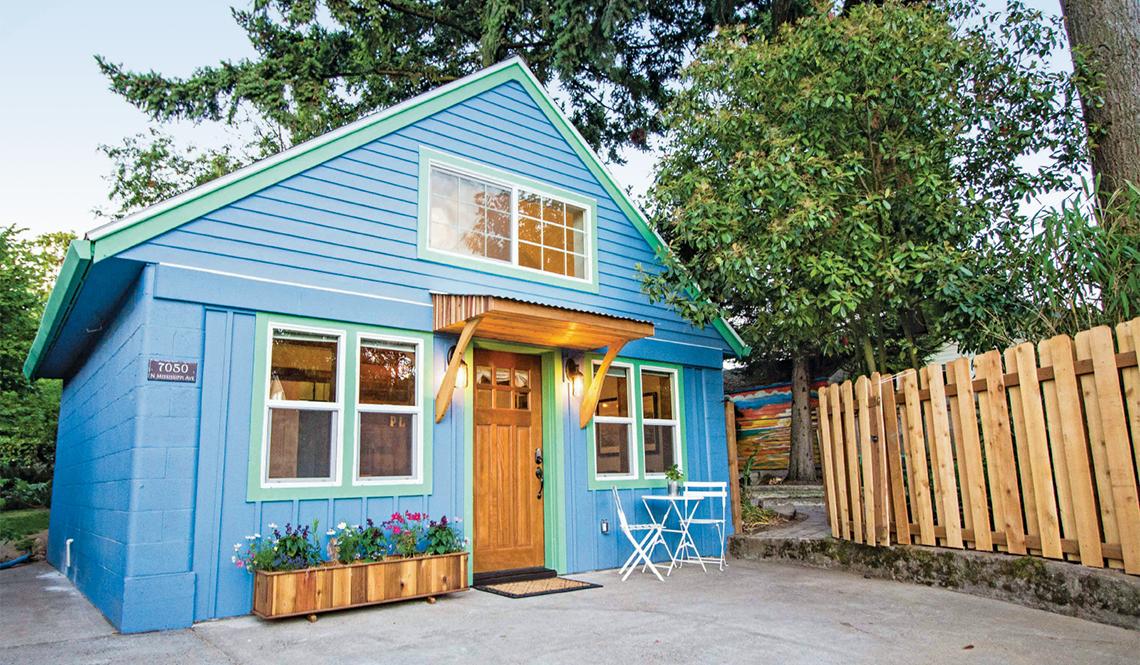 ADU blue house