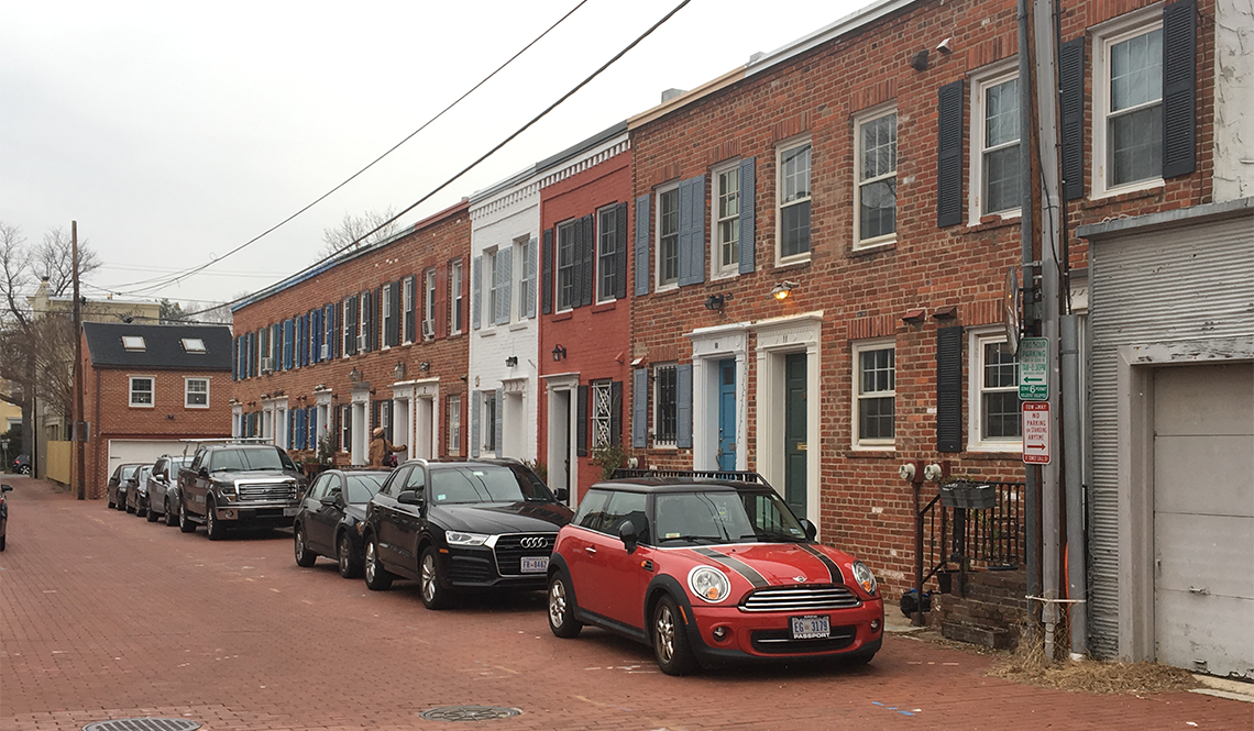Brick townhomes in browns court dc
