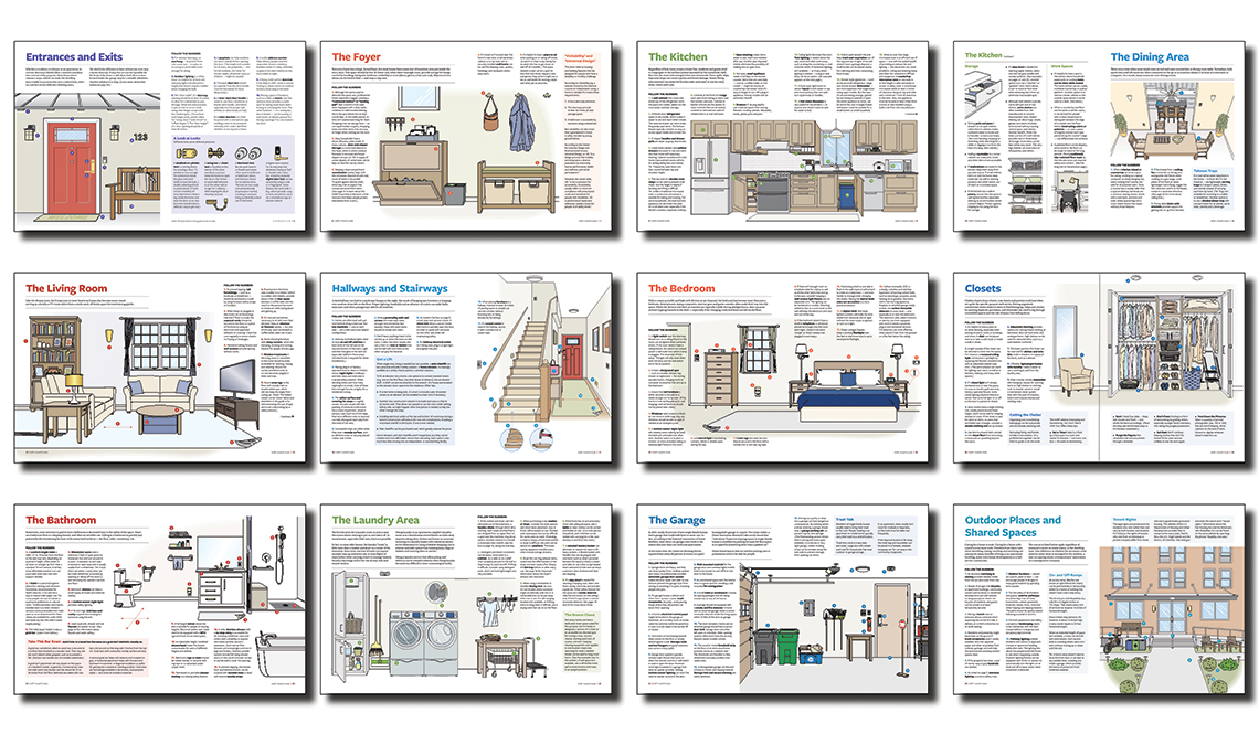 Pages from the AARP HomeFit Guide