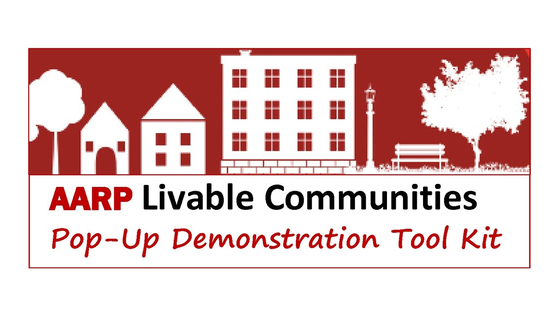Logo for the AARP Livable Communities Pop-Up Demonstration Tool Kit