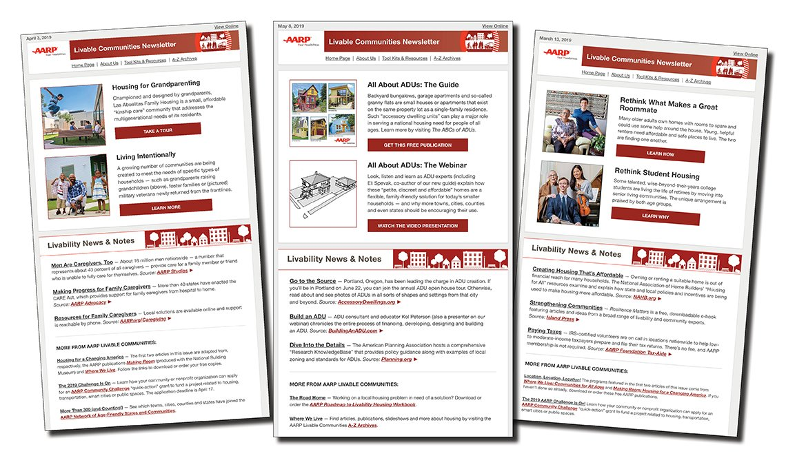 AARP Livable Communities Newsletter