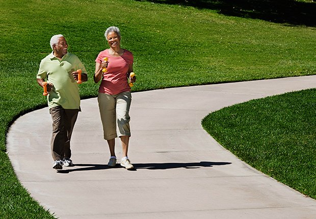 Couple jogging, Livable Communities.