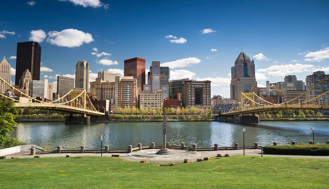 Pittsburgh Skyline, City, Lake, Waterfront Bridge, City, Park, Grass, Cityscape, Mayor Interviews, Livable Communities