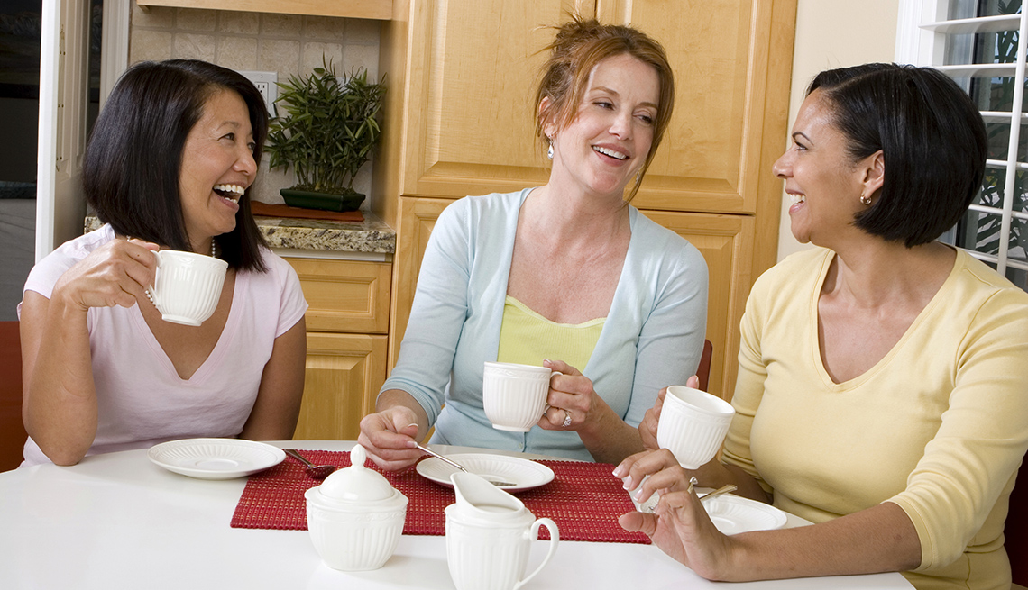 Amazing Three Ladies Laughing At Kitchen Table, Housing Options As You Age