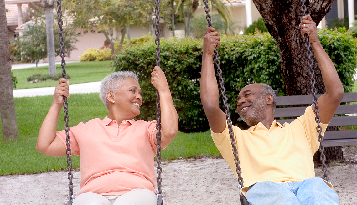 Mature Couple, African-American, Swings, Livable Communities