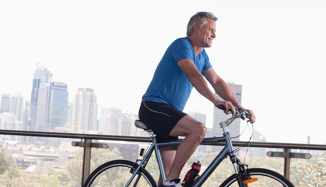 Mature Man, Riding Bicycle, Livable Communities