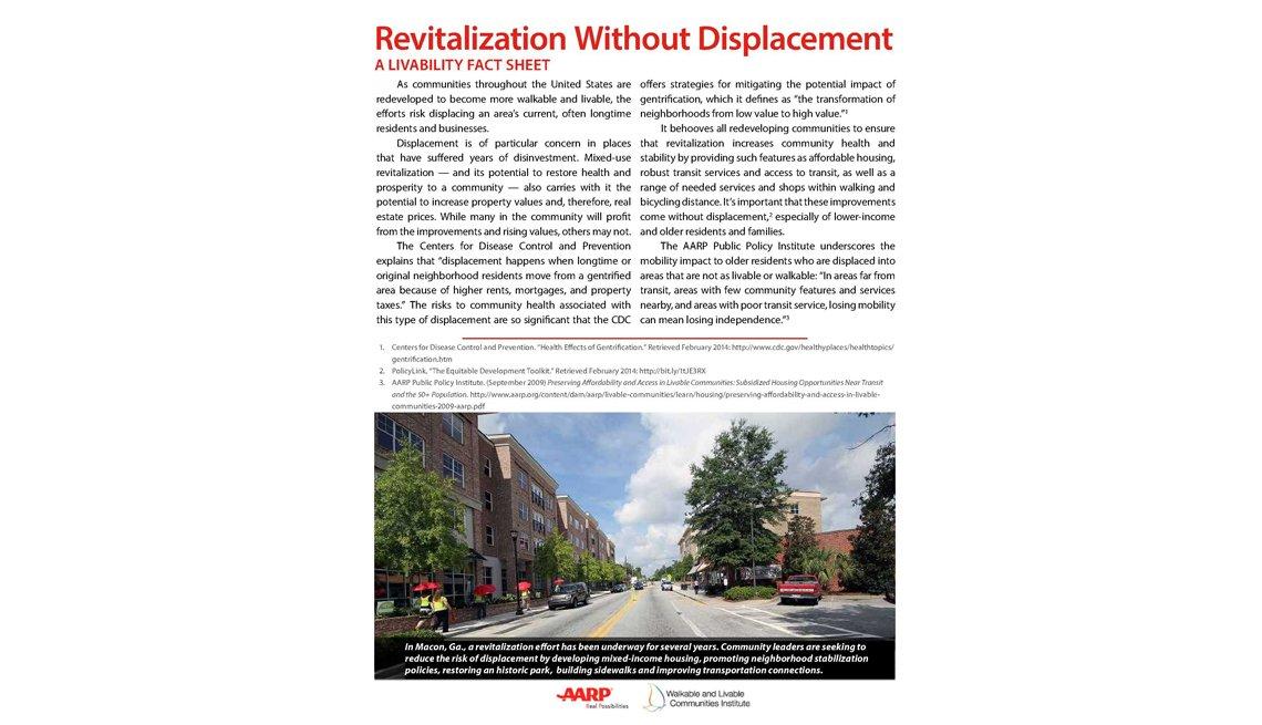 Revitalization Report, Livable Communities