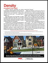 Density: A Livability Fact Sheet