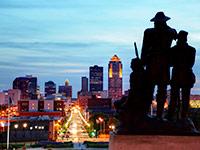 The Des Moines, Iowa, skyline.