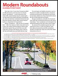 Modern Roundabouts: A Livability Fact Sheet