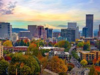 Skyline of Portland, OR; Livable Communities. Credit: Getty Images