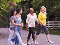 Access to sidewalks and safe places to walk help make a community livable and age-friendly.