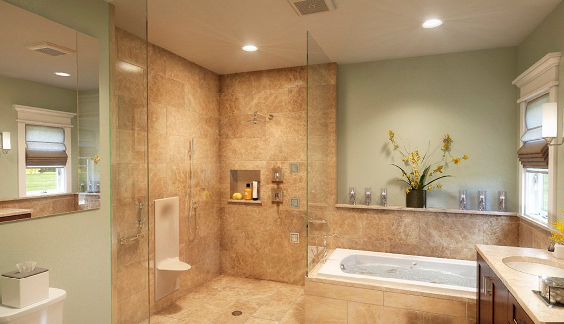 Bathroom, Tub, Shower, Toilet, Sink, Residence, Livable Communities, 2014 Home For Life