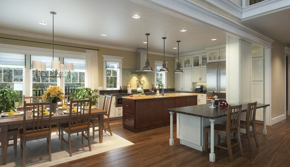 Kitchen, Dining Area, Residence, Livable Communities, 2014 Home For Life
