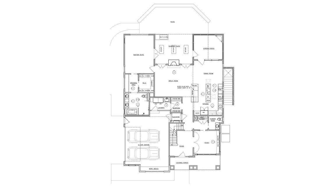 First Floor, Floorplan, Residence, Drawing, Livable Communities, 2014 Home For Life