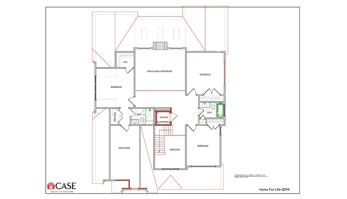 2nd Floor, Floorplan, Drawing, Residence, Livable Communities, 2014 Home For Life