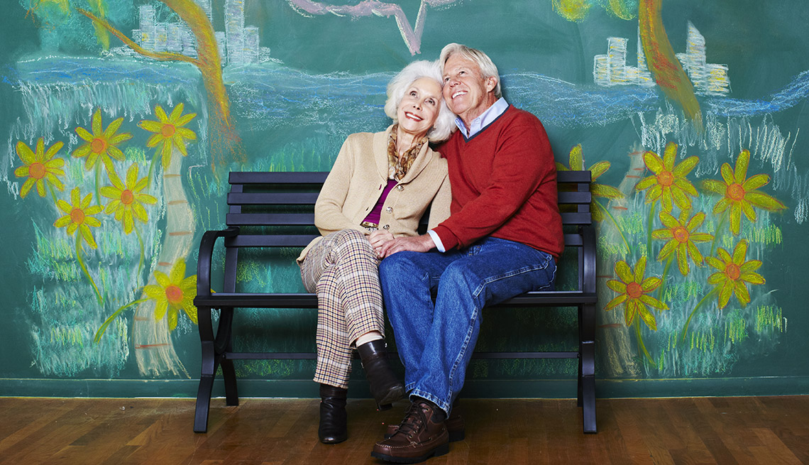 The Good Life, Elderly Couple Sits On Bench, Smiling, Happy, Livable Communities, 8 Features Of An Age Friendly Community