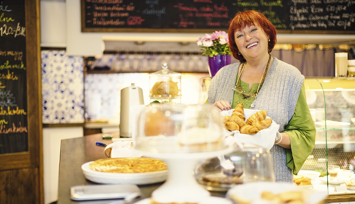 Female Shopkeeper Smiles, Bakery, Work, Livable Communities, 8 Features Of An Age Friendly Community