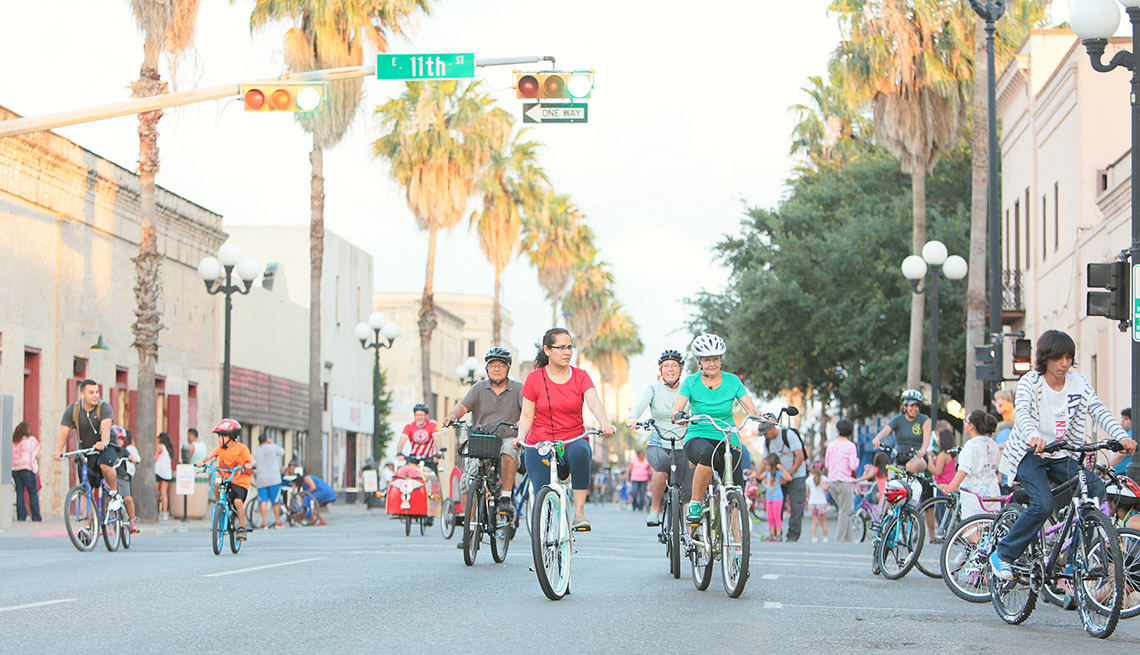 People Ride Their Bikes Take Over The City Streets, Cyclobia, AARP Livable Communities, Making Streets Safer And Sociable